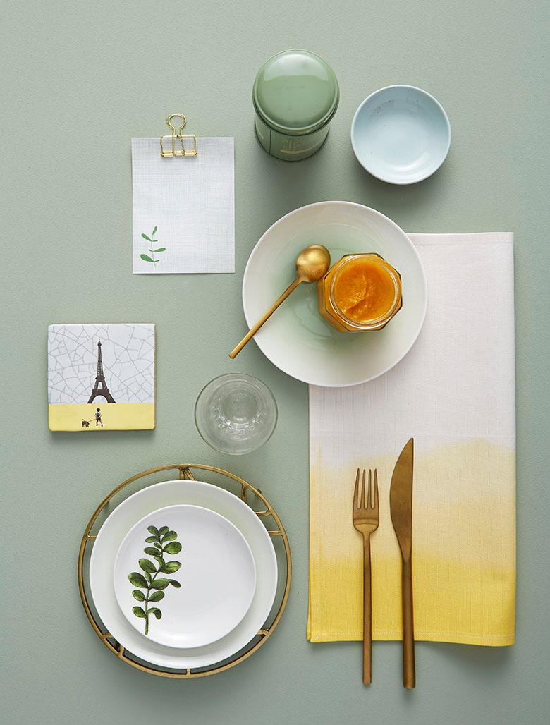 table setting: zafferano mood